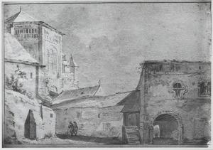 Gezicht op St. Gereon te Keulen gezien vanaf het oosten