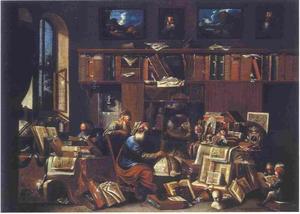 Filosofen bij hun onderzoek