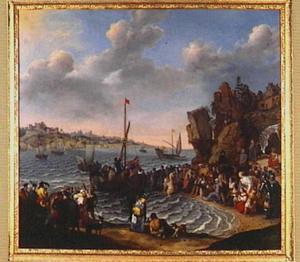 Christus predikend vanaf het meer van Genesareth