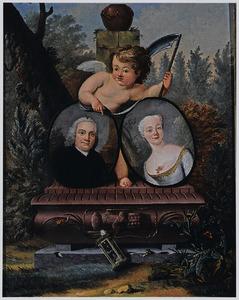 Memento-mori portret van een onbekend echtpaar