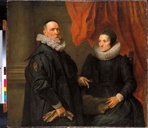 Portret van de schilder Hans de Wael (1558-1633) en zijn vrouw Geertruid de Jode (?-1642)