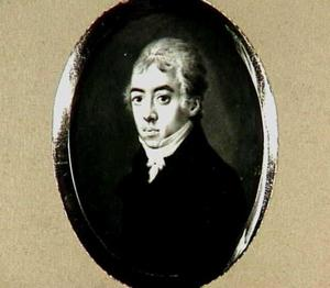Portretminiatuur van Johan Gerard Oldenbarneveld, genaamd Witte Tullingh (1779-1852)