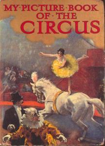 """Voltigepaard op het omslag van """"My Picture Book of the Circus"""""""