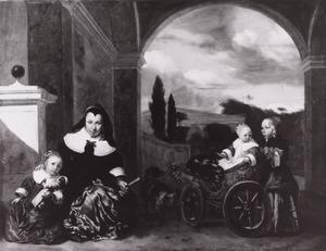 Portret van Christina de Lepper (1624-1683) en haar kinderen