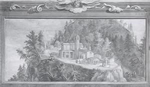Landschap met heiligdom van La Verna