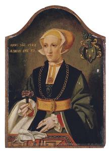 Portret van Gertrud Hittorp