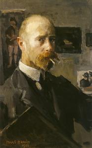 Zelfportret in schildersatelier