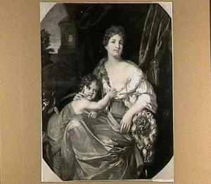 Portret van een dame met haar zoon