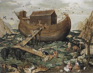 De ark van Noach op de berg Ararat