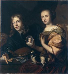 Zelfportret van Jan de Baen (1633-1702) met Maria de Kinderen
