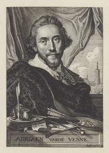 Portret van Adriaen Pietersz. van de Venne (1589-1662)