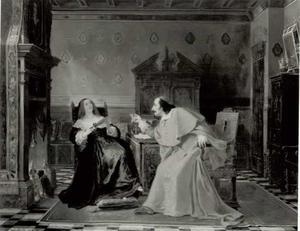 Kardinaal Mazatin en Madame de Cheveuse