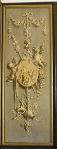 Trofee met symbolen die verwijzen naar de herfst of Bacchus