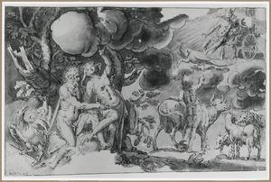 Jupiter verleidt Io en verandert haar in een koe