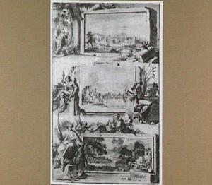 Ontwerp voor de titelpagina van het werk 'La galerie agréable du monde' uitg. Van der Aa, Leiden 1729