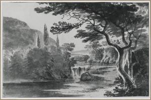 Heuvelachtig rivierlandschap