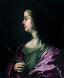 Portret van Vittoria della Rovere (1622-1694), echtgenote van Ferdinand II de' Medici, hertog van Toscane