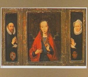 Drieluik met op het middenpaneel Maria en op de beide luiken stichtersportretten