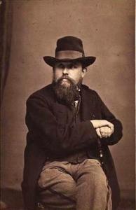 Portret van de kunstenaar Christian Vigilius Blache (1838-1920)