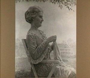 Portret van Edwina van Heek-Burr Ewing (1872-1945) op Zonnebeek/Rietbeek te Enschede
