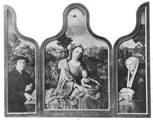 Drieluik met de stichter (links), de rust op de vlucht naar Egypte (midden) en de stichtster (rechts)