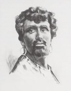 Portret van Chris de Vos (1870-1949)