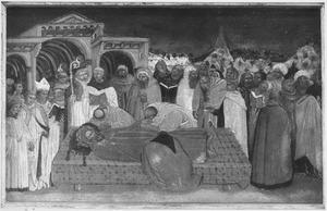 Begrafenis van de Heilige Bendictus