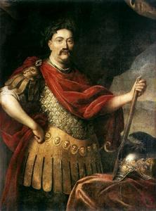 Portret van Jan III Sobieski (1629-1696)  in Romeins kostuum