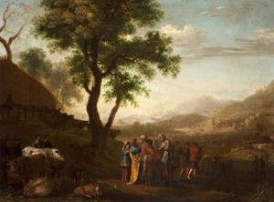 Heuvellandschap met Oud-testamentaire scène