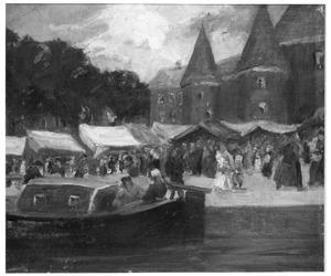 Marktscène in Amsterdam