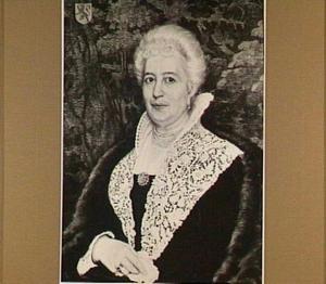 Portret van Anna Habina (1838-1912), baronesse Löwe van Middelstein