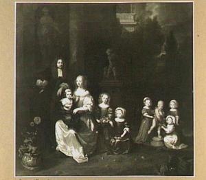 Portret van een familie, 1667