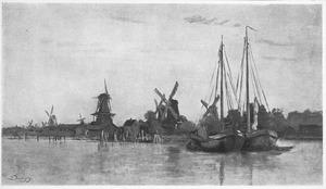 Op een rivier in de buurt van Dordrecht