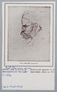 Portret van Paul Verlaine (schrijvend)