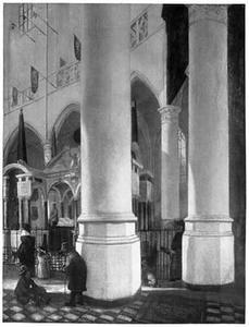 Interieur van de Nieuwe Kerk te Delft met het praalgraf van Willem de Zwijger