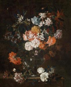 bloemstilleven in een glazen vaas