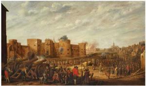 Het beleg van het kasteel Vredenburg te Utrecht in 1577
