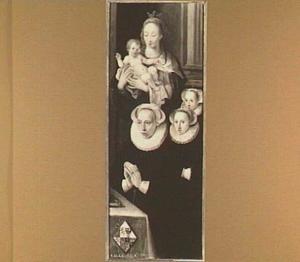 Maria met kind en een stichtster met haar twee dochters (op de achterzijde: de engel Gabriël)