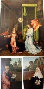 De Annunciatie; de H. Petrus en de H. Elisabeth van Hongarije
