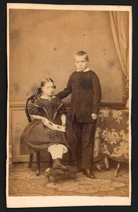 Portret van Jhr. Hendrik Gerard Johan Caan van Neck (1851-1866) en Jkvr. Maria Johanna Caan van Neck (1854-1922)