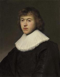 Portret van een jonge man met plooikraag