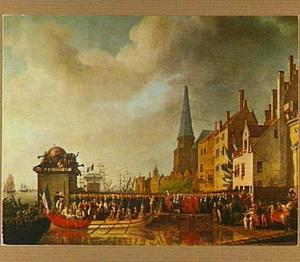 Ontvangst van Napoleon Bonaparte en Joséphine van Beauharnais te Antwerpen in 1803