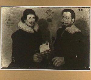 Dubbelportret van de overlieden A.S. Raephorst (1600-..) en Reijnert Claesz Mandemaecker (1601-1663) van het Zakkendragersgilde te Alkmaar