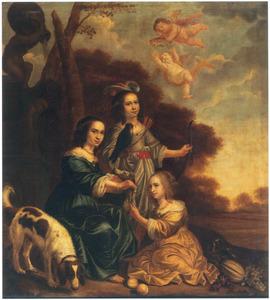 Portret van drie dochters van Jacob Willemsz. Delff