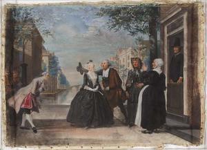Verliefde Brechje (Episode uit scène 9 van de gelijknamige klucht van Pieter Willem van Haps uit 1705)