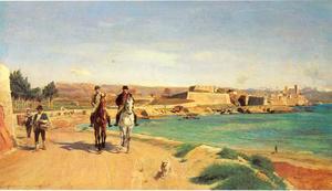 Antibes, rit te paard
