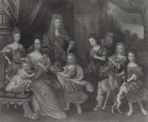 Familieportret van Alexander Stewart (?-1704), zijn vrouw Anne Hamilton (1658-1722) en hun kinderen