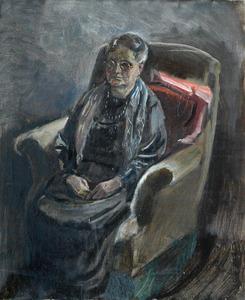 Portret van de moeder van de kunstenaar (voorstudie)