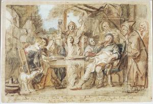 Vrolijk gezelschap (allegorie van de rechtschapenheid)