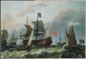Het vertrek van prins Willem III en Maria Stuart naar Engeland in 1688